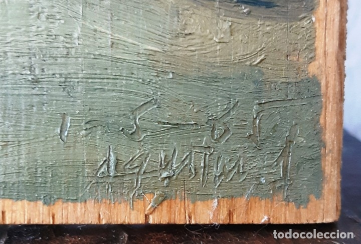 Arte: Iglesia de San Miguel de Chamartín. Óleo sobre tabla firmado y fechado en 1965 - Foto 3 - 172947438