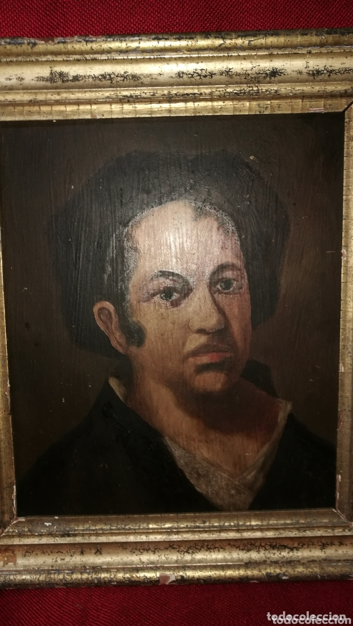 ANTIGUA PINTURA AL OLEO SOBRE TABLA (Arte - Pintura - Pintura al Óleo Antigua siglo XVIII)
