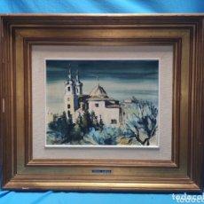 Arte: OLEO SOBRE TABLA, PINTOR MURCIANO MEDINA BARDON , MEDIDAS 58 X 50 CM CONTANDO EL MARCO. Lote 172987792
