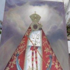 Arte: MAGNIFICO OLEO ANTIGUO VIRGEN MORENETA CON NIÑO. Lote 173017913