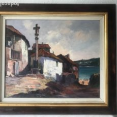 Arte: LLUIS BONADA BERENGUER (SABADELL 1908-) PAISAJE PUEBLO. OLEO SOBRE LIENZO.. Lote 173022932