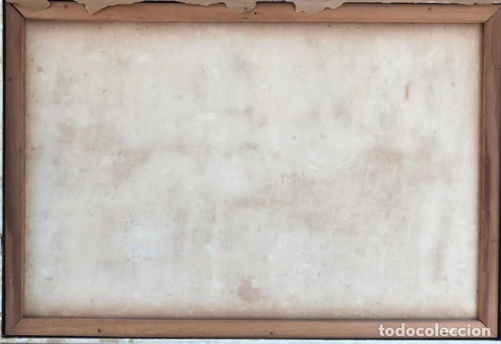 Arte: Ramón Aguilar Moré - Dos jóvenes - Acrílico tabla - Foto 12 - 173023433