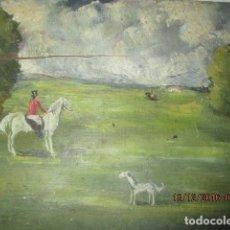 Arte: INTERESANTE Y ANTIGUA PINTURA OLEO EN TABLA CONTIENE FIRMA POSIBLE INGLATERRA LONDON. Lote 173103167