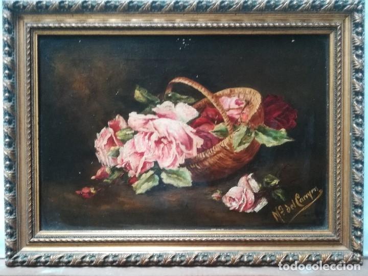 BODEGON CON FLORES (Arte - Pintura - Pintura al Óleo Contemporánea )