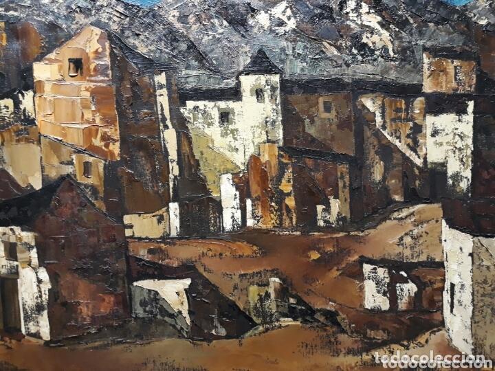 DANIEL CIUDAD GARCIA ( VALLADOLID S.XX) PAISAJE DE PUEBLO (ÓLEO SOBRE LIENZO 50 X 65) (Arte - Pintura - Pintura al Óleo Moderna sin fecha definida)
