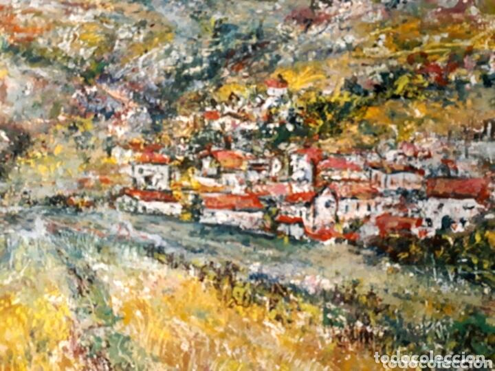 Arte: MUÑOZ MOREA (VALENCIA 2 MITAD S.XX) PAISAJE DE PUEBLO, ÓLEO SOBRE LIENZO 45 x 56 - Foto 3 - 173173600
