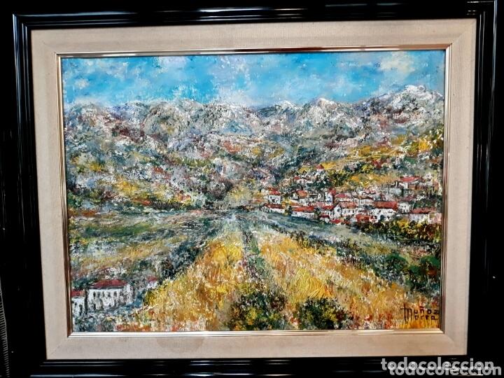 Arte: MUÑOZ MOREA (VALENCIA 2 MITAD S.XX) PAISAJE DE PUEBLO, ÓLEO SOBRE LIENZO 45 x 56 - Foto 5 - 173173600