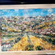 Arte: MUÑOZ MOREA (VALENCIA 2 MITAD S.XX) PAISAJE DE PUEBLO, ÓLEO SOBRE LIENZO 45 X 56. Lote 173173600