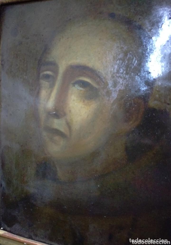 Arte: Magnifico oleo sobre cobre con importante marco dorado. Siglo XVIII - Foto 2 - 173379798