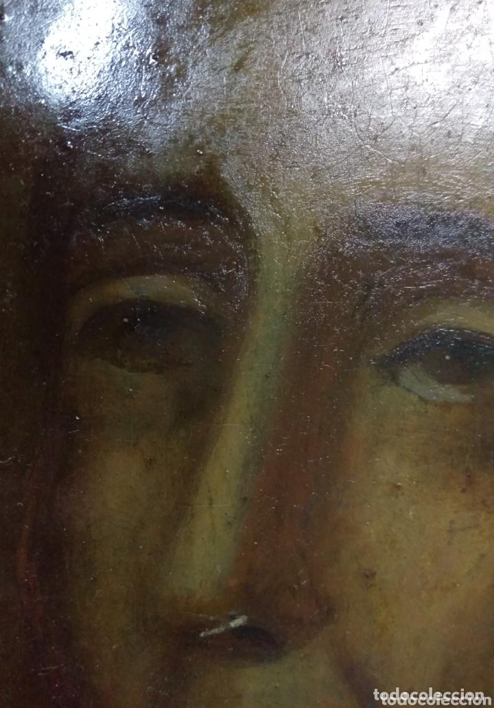 Arte: Magnifico oleo sobre cobre con importante marco dorado. Siglo XVIII - Foto 3 - 173379798
