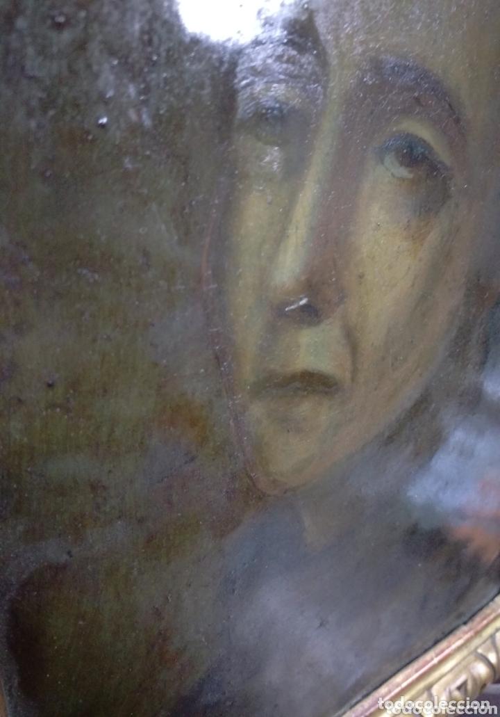 Arte: Magnifico oleo sobre cobre con importante marco dorado. Siglo XVIII - Foto 4 - 173379798
