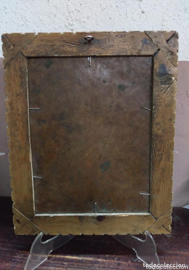 Arte: Magnifico oleo sobre cobre con importante marco dorado. Siglo XVIII - Foto 7 - 173379798