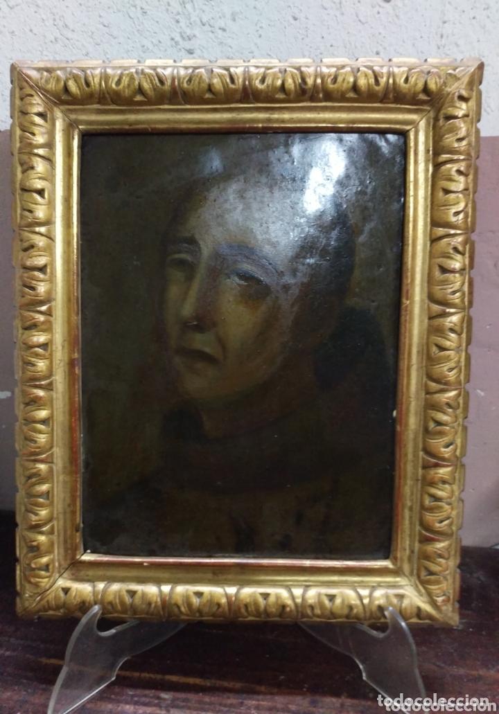 MAGNIFICO OLEO SOBRE COBRE CON IMPORTANTE MARCO DORADO. SIGLO XVIII (Arte - Pintura - Pintura al Óleo Antigua siglo XVIII)