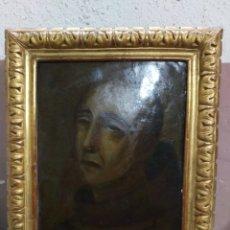 Arte: MAGNIFICO OLEO SOBRE COBRE CON IMPORTANTE MARCO DORADO. SIGLO XVIII. Lote 173379798