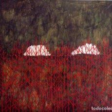 Arte: BOSQUE ROJO. OLEO SOBRE LIENZO 65 X 54. Lote 173383834