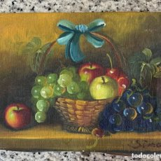 Arte: BODEGON DE OLEO EN LIENZO (18 CTMS X 13 CTMS) SIN MARCO - (1 DE 4). Lote 173388249