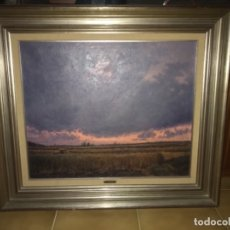 Arte: PAISAJE MANCHEGO DEL PINTOR MANUEL DE GRACIA. Lote 173443347