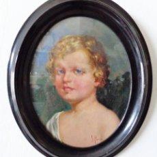 Arte: JOSÉ PONCE PUENTE (MÁLAGA, 1862-1931) - NIÑO- PINTURA MALAGUEÑA DEL SIGLO XIX. Lote 173444889