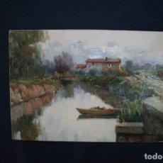 Arte: JUAN LLUNA LERMA ( GODELLA - VALENCIA,1933 ) OLEO/ TABLA. EXCELENTE PAISAJE HUERTANO DE VALENCIA. Lote 173448529
