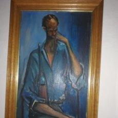 Arte: ÓLEO DEL CONOCIDO PINTOR CANARIO Y TAMBIÉN EL DALI CANARIO . EL GRAN JULIO VIERA. OBRA SIN IGUAL.. Lote 173484368