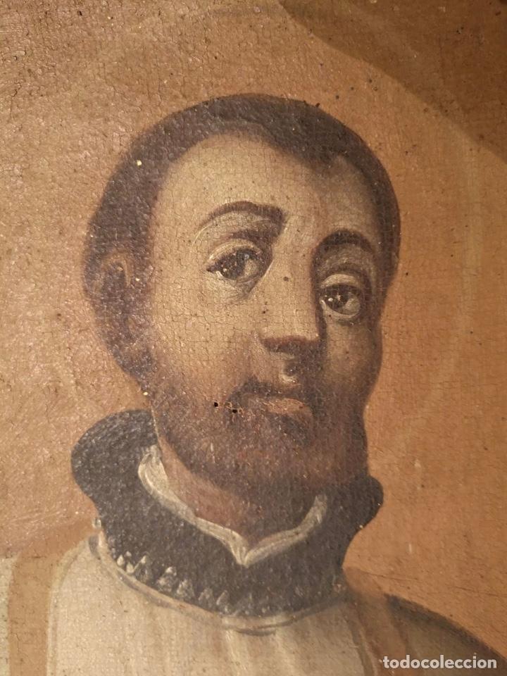 Arte: San Francisco Javier. Oléo sobre lienzo ,Siglo XVII. 90x67 cm - Foto 3 - 173489350