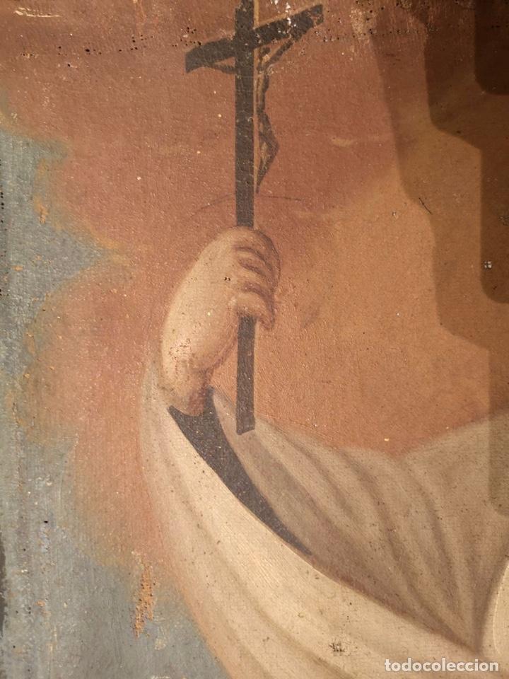 Arte: San Francisco Javier. Oléo sobre lienzo ,Siglo XVII. 90x67 cm - Foto 5 - 173489350