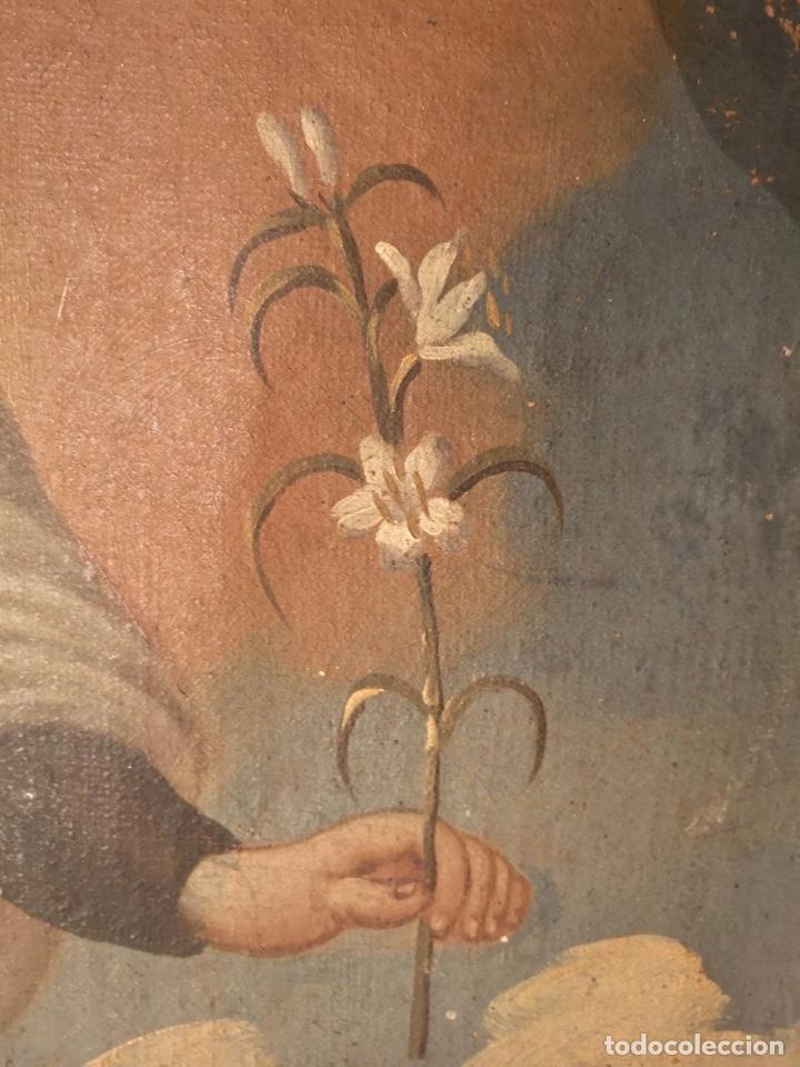 Arte: San Francisco Javier. Oléo sobre lienzo ,Siglo XVII. 90x67 cm - Foto 6 - 173489350