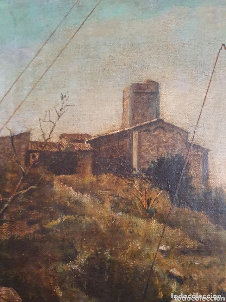 Arte: OLEO SOBRE LIENZO COSTUMBRISTA LAS TRES MUJERES S.XVIII-XIX ESTA FIRMADO - Foto 3 - 161612765