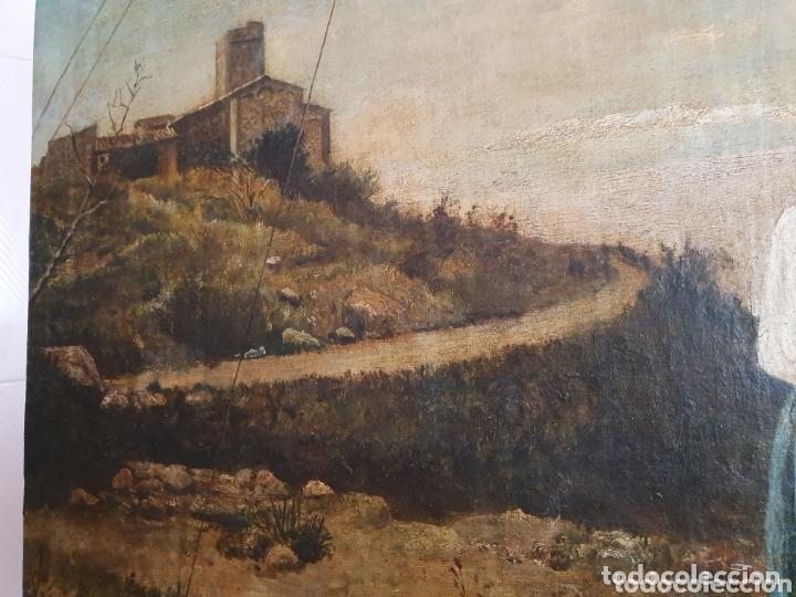Arte: OLEO SOBRE LIENZO COSTUMBRISTA LAS TRES MUJERES S.XVIII-XIX ESTA FIRMADO - Foto 4 - 161612765