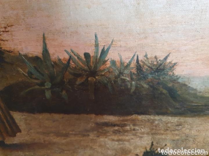 Arte: OLEO SOBRE LIENZO COSTUMBRISTA LAS TRES MUJERES S.XVIII-XIX ESTA FIRMADO - Foto 6 - 161612765