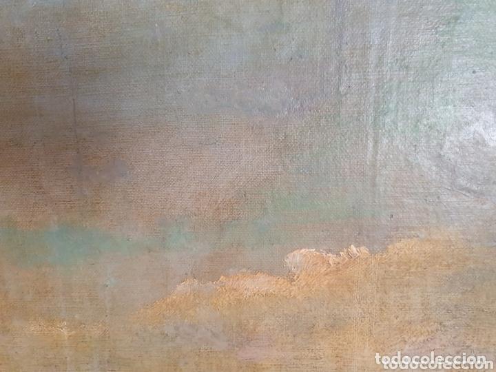 Arte: OLEO SOBRE LIENZO COSTUMBRISTA LAS TRES MUJERES S.XVIII-XIX ESTA FIRMADO - Foto 8 - 161612765