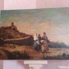 Arte: OLEO SOBRE LIENZO PINTURA CATALANA LAS TRES MUJERES S.XVIII-XIX. Lote 161612765
