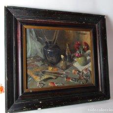 Arte: PINTURA CUADRO BODEGON ANTIGUA CATALANA BARCELONA CIRCA 1900. Lote 173503462