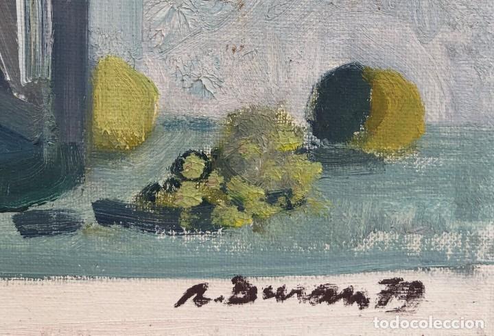 Arte: Rafael Duran Benet (1931-2015) - Bodegon de jarrón con flores - Óleo - Foto 2 - 173546908