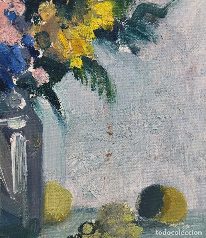 Arte: Rafael Duran Benet (1931-2015) - Bodegon de jarrón con flores - Óleo - Foto 3 - 173546908