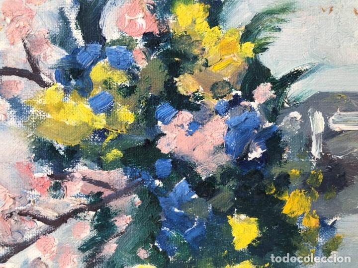 Arte: Rafael Duran Benet (1931-2015) - Bodegon de jarrón con flores - Óleo - Foto 5 - 173546908