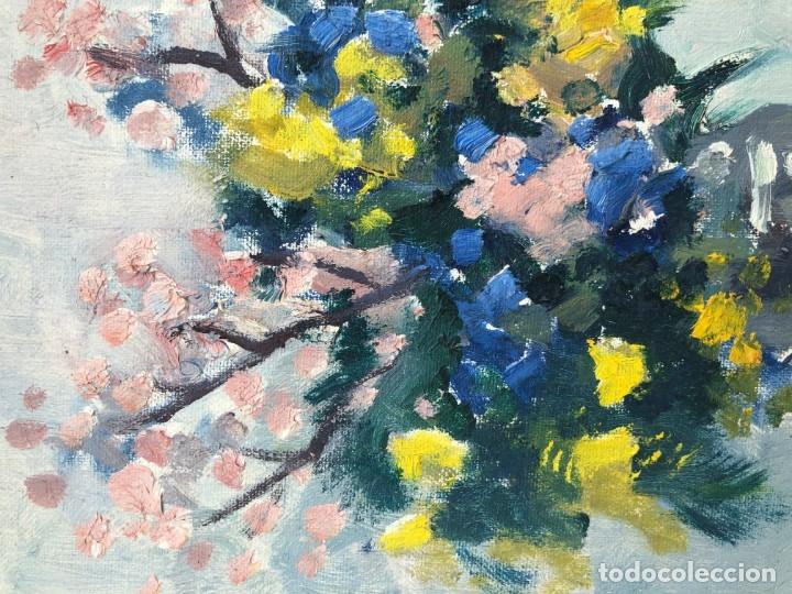 Arte: Rafael Duran Benet (1931-2015) - Bodegon de jarrón con flores - Óleo - Foto 6 - 173546908