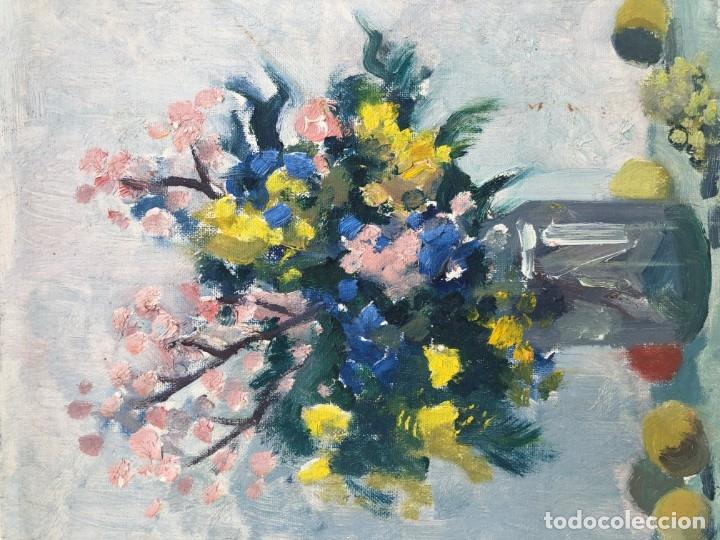 Arte: Rafael Duran Benet (1931-2015) - Bodegon de jarrón con flores - Óleo - Foto 7 - 173546908