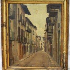 Arte: JULIO BORRELL (BARCELONA, 1877-1957). CALLE DE PUIGCERDÀ, ÓLEO SOBRE LIENZO, 46X36 CM.. Lote 173571588