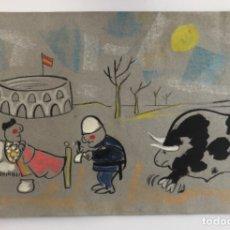 Arte: 4 MANOLO SUMMERS . 4 GOUACHE . SEVILLA . MADRID . CRÍTICA SOCIAL . ABC . CINE . EL QUIJOTE . TOROS .. Lote 173572300