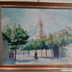 Arte: NUESTRA SEÑORA DE LA ANTIGUA VALLADOLID, OLEO / TABLEX, FIRMADO CASTILVIEJO (1925-2004), HACIA 1950. Lote 173626314