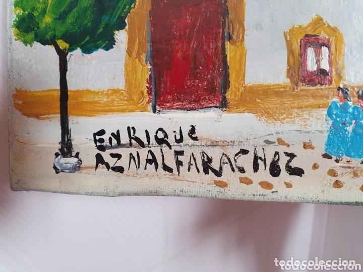 Arte: MUY BONITO LIENZO COSTUMBRISTA SE ENCUENTRA FIRMADO - Foto 2 - 133629446
