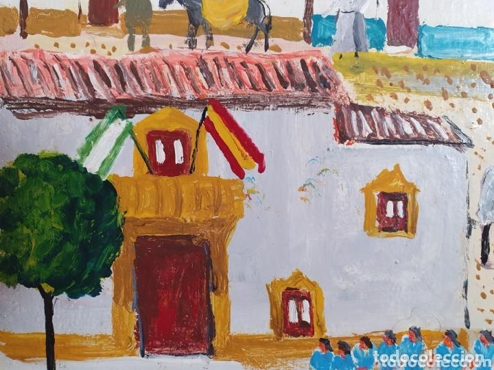 Arte: MUY BONITO LIENZO COSTUMBRISTA SE ENCUENTRA FIRMADO - Foto 6 - 133629446