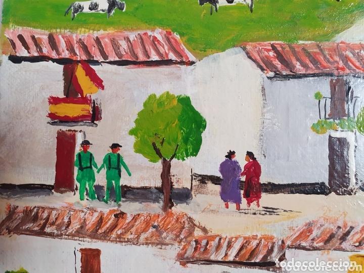 Arte: MUY BONITO LIENZO COSTUMBRISTA SE ENCUENTRA FIRMADO - Foto 7 - 133629446