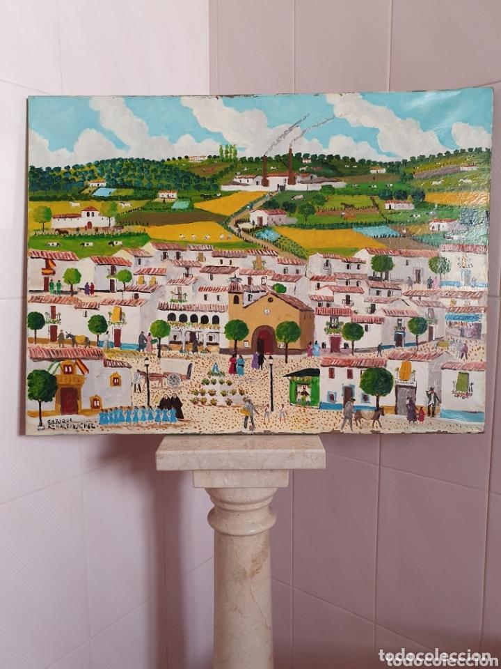 MUY BONITO LIENZO COSTUMBRISTA SE ENCUENTRA FIRMADO (Arte - Pintura - Pintura al Óleo Antigua sin fecha definida)