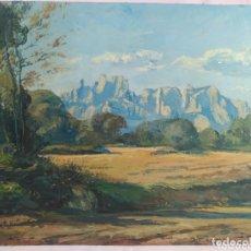 Arte: ISIDRE ODENA DAURA / MONSERRAT 1976 . ORIGINAL ÓLEO SOBRE MADERA. Lote 173725847