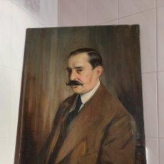 Arte: AUTORRETRATO AL OLEO SOBRE LIENZO DE DIEGO LOPEZ CONSAGRADO PINTOR SEVILLANO FECHADO EN EL 1914. Lote 160214686