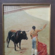 Arte: ANTIGUO CUADRO TAURINO MANUEL OSUNA. Lote 173945408