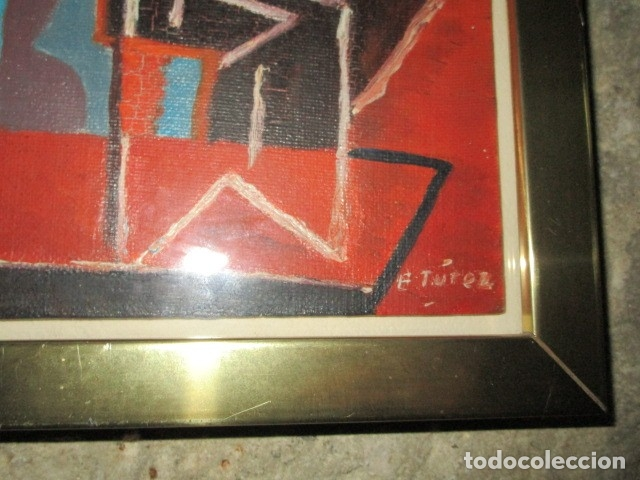 Arte: PINTURA ANTIGUA CUBISTA OLEO CONTIENE FIRMA - Foto 2 - 174000637