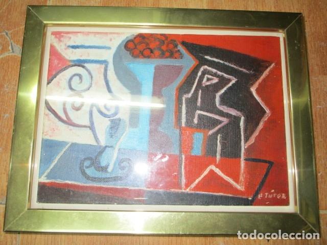 Arte: PINTURA ANTIGUA CUBISTA OLEO CONTIENE FIRMA - Foto 4 - 174000637